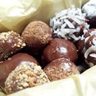 brigadeiro. just 3 ingredients: sweetened condensed milk, unsweetened cocoa, and some butter. very easy to customize as well. i made 1 batch; split into 3 containers and added some mint extract to one and some coconut extract to another. delish! fyi, a little goes a long way. after a few bites, i couldn't eat anymore.
