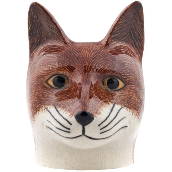 Quail Ceramics Fox Egg Cup ($16) ❤ liked on Polyvore featuring home, kitchen & dining, dinnerware, orange, stoneware dinnerware, orange dinnerware, quail ceramics, dishwasher safe dinnerware and handpainted dinnerware