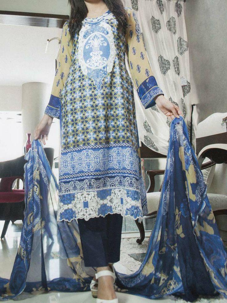 Pakistani Salwar Kameez Lawn Yashfeen Cotton Inn Embroidery 73-A - http://wafafashion.com/product/pakistani-salwar-kameez-lawn-yashfeen-cotton-inn-embroidery-73-a/