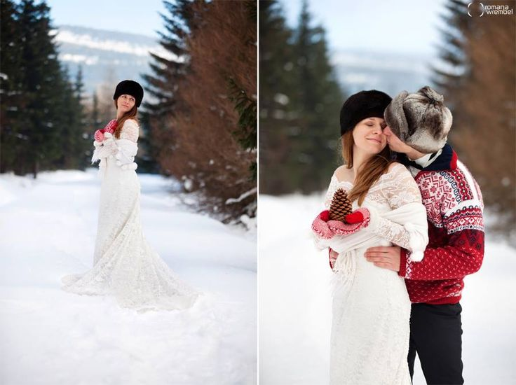 Into the Woods ♥ romantic wedding photos in Winter