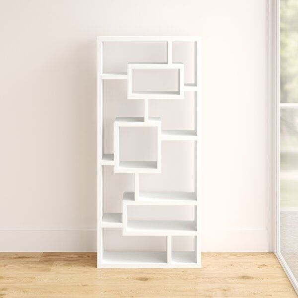 Cleisthenes Geometric Bookcase In 2020 Bookcase Contemporary Bookcase Etagere Bookcase