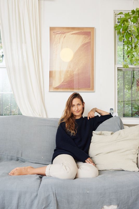 We love these photos and interview with Domino Kirke in her Brooklyn home with her son Cassius.