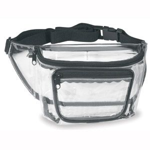 Three Pocket Clear See Through Vinyl Fanny Waist Pack #clear_bag #style