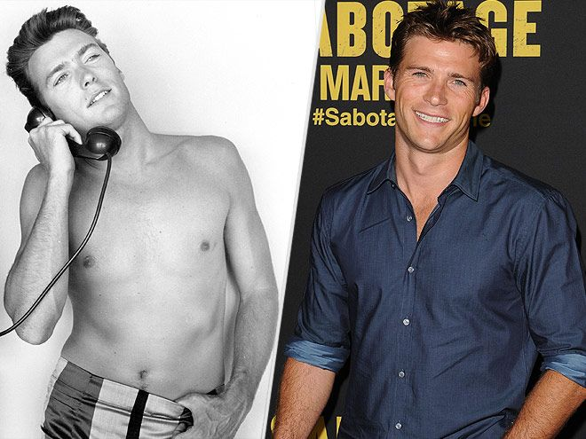 "It Runs in the Family: The Sexiest Father-Son Duos | CLINT & SCOTT EASTWOOD | ""My dad was always super-active and got me in the gym at a young age,"" says Scott, 29, who made a splash in a 2013 shirtless spread in Town & Country. This year, Scott won a Teen Choice Award for The Longest Ride."