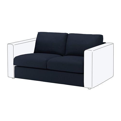 Vimle 2 Seat Section Gr 228 Sbo Black Blue Ikea Ikea Vimle