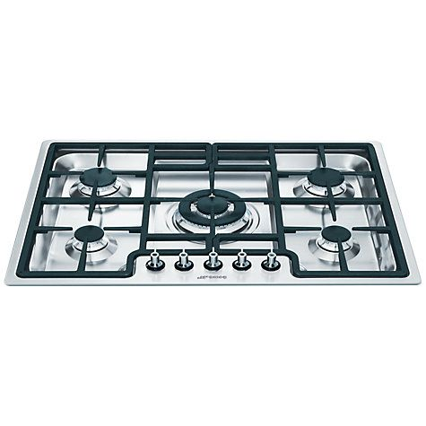 Buy Smeg PGF75-4 Gas Hob, Stainless Steel Online at johnlewis.com