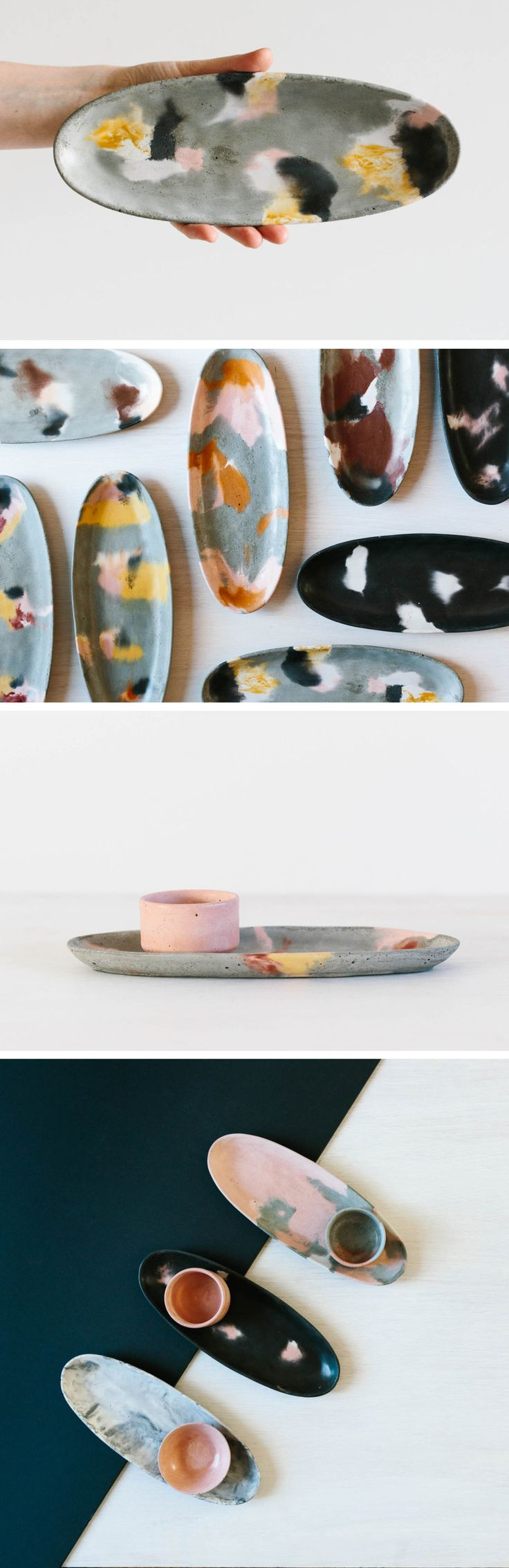 Oval Concrete Platter / Tray / Plate / Dish. Perfect housewarming or Christmas gift for the home. Design lovers / Australian design / object design / product design / Etsy handmade
