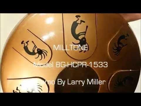 8G-HCPR-1533 MILLTONE Fine Tuned Steel Tongue Drum, Slit Drum, Hank,Tank...