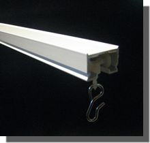 drapery track hardware - from hospital supply (check weight reqs. for standard drapes)
