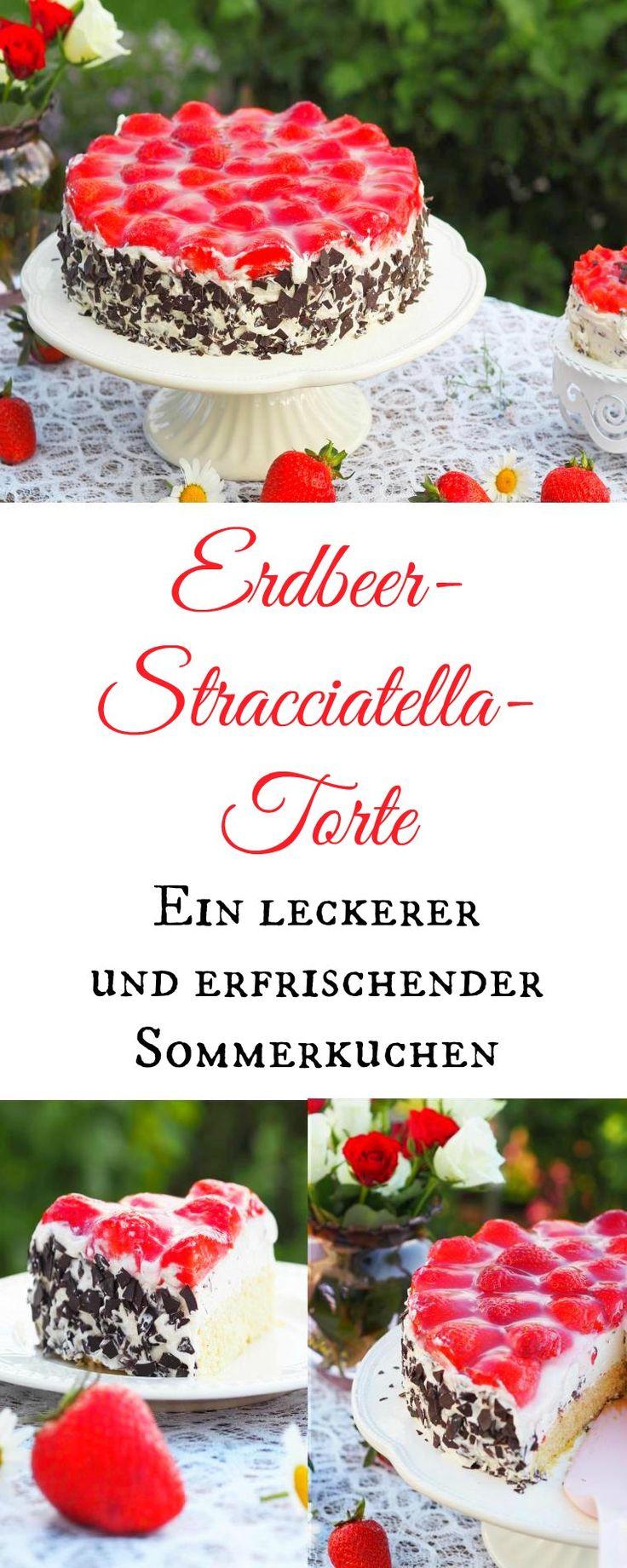 Ich liebe Erdbeeren. Daher gab´s bei uns am Wochenende diese leckere Erdbeer - Stracciatella - Torte...fruchtig frisch und so lecker. Mit dem Thermomix (oder auch ohne) sehr schnelle hergestellt. -Werbung-