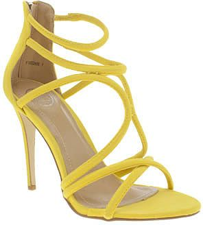 Womens canary yellow missguided yellow rounded strap high heels from Schuh - £30 at ClothingByColour.com