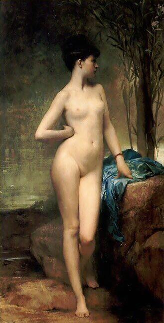 Chloé, 1875 by Jules Joseph Lefebvre (1836-1911, France)
