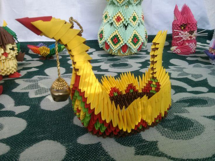 Mihaela's Origami3D diy handcrafted origami paper interior decorations.