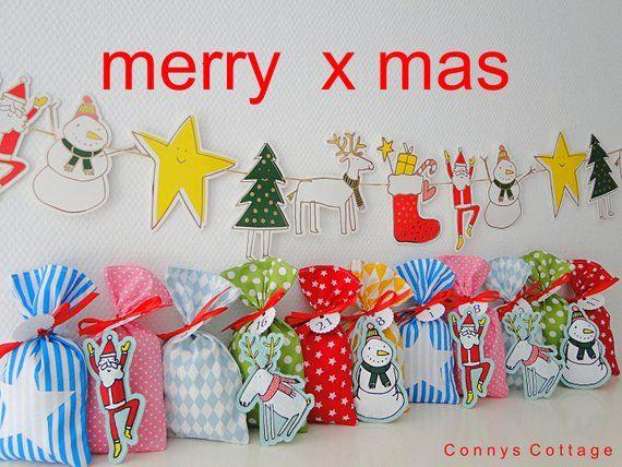 Weihnachtskalender Elch.Advent Calendar For Children Xxl Advent Calendar For Filling