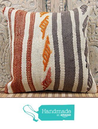 Traditional kilim pillow cover 16x16 Rustic Kilim pillow cover Decorative Kilim Pillow cover Boho Kilim Ethnic Pillow cover Tribal Pillow Cover Wool Pillowcases from Kilimwarehouse http://www.amazon.com/dp/B019CGJS8M/ref=hnd_sw_r_pi_dp_Ej.Bwb1Z8F36E #handmadeatamazon