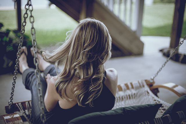 .To Swing on a porch and feel the wind through my hair...sounds lovely to me :) <3