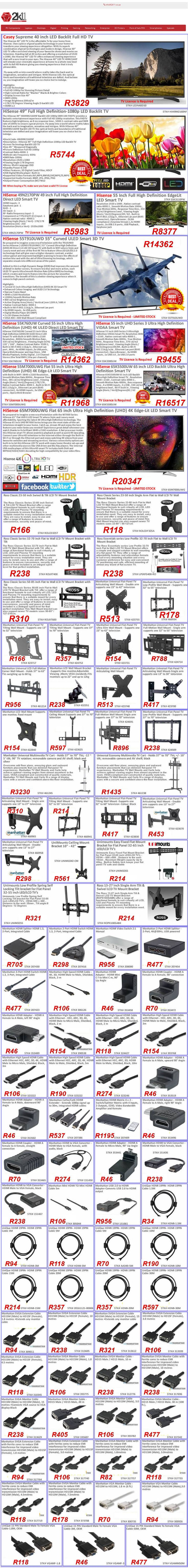 Television wall mounts and cables and adapters guide