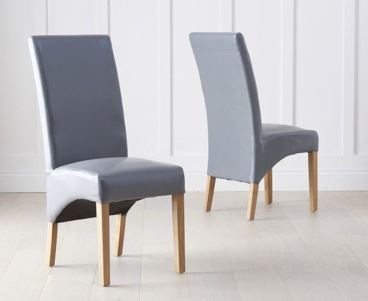 Rahan Grey Bycast Leather Chairs (Pair)  Produced to an very higher regular and upholstered with smooth bycast grey leather, the Rahan Chairs emit pure sophistication due to their sleek and suave style.   https://www.bonsoni.com/rahan-grey-bycast-leather-chairs-pair