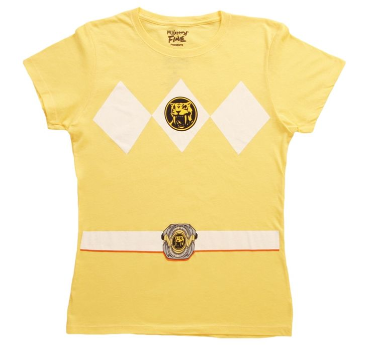 Womens Yellow Power Ranger T-Shirt