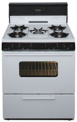 SFK249W 30 Freestanding Gas Range With 5 Open Burners 3.9 cu. ft. Manual Clean Oven Electronic  #Premier #MajorAppliances
