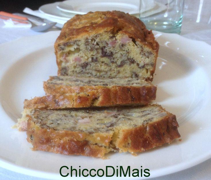 Plum cake salato con pancetta e radicchio ricetta antipasto il chicco di mais http://blog.giallozafferano.it/ilchiccodimais/plum-cake-salato-con-pancetta-e-radicchio-ricetta-antipasto/