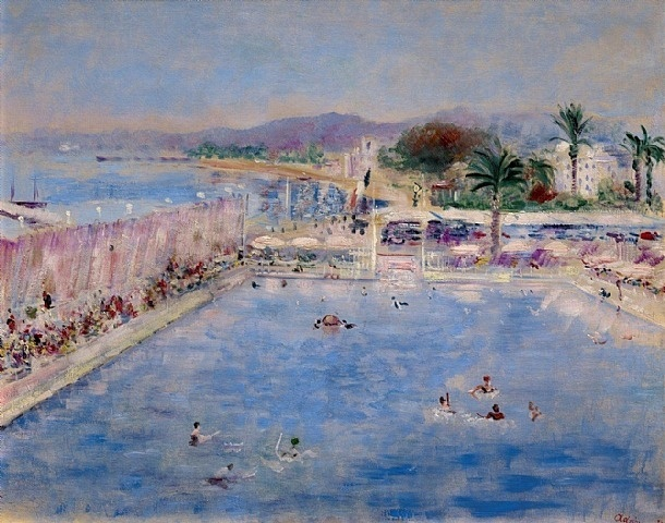 : Palm Beach à Cannes by Lucien Adrion from Kunsthandel Ivo Bouwman BV