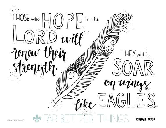 1000 ideas about isaiah 40 31 on pinterest isaiah 41 10 for Isaiah told about jesus coloring page