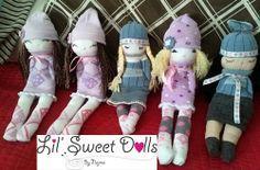 muñecas calcetin sock doll lil sweet dolls najma16 Más