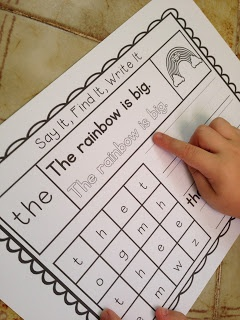 Teachable Moments: Say It, Write It, Find It Sight Words