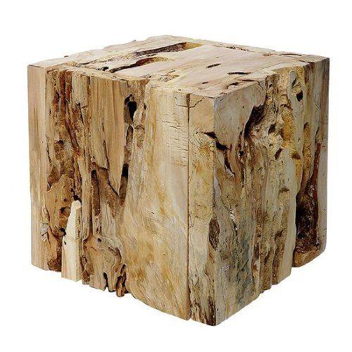 Deko-Woerner Würfel Holz natur,,35x35x35cm: Amazon.de: Küche & Haushalt