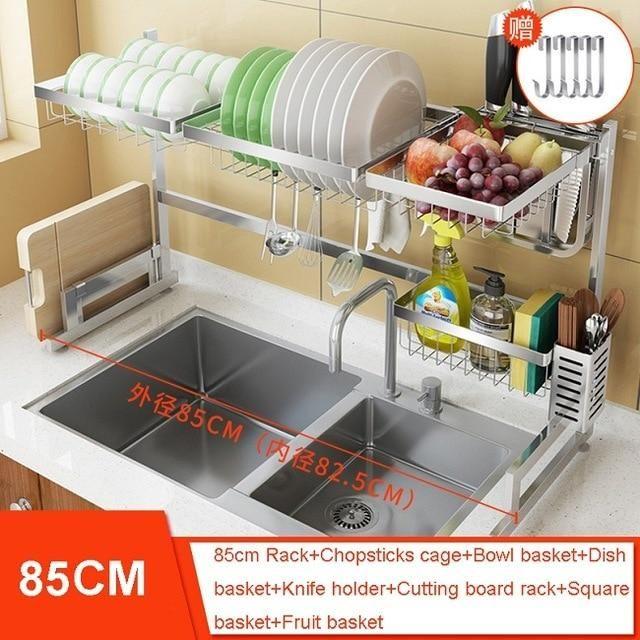 Stainless Steel Kitchen In 2020 Sink Storage Diy Storage Rack
