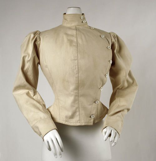 Fencing jacket ca. 1904 via The Costume Institute of the Metropolitan Museum of Art
