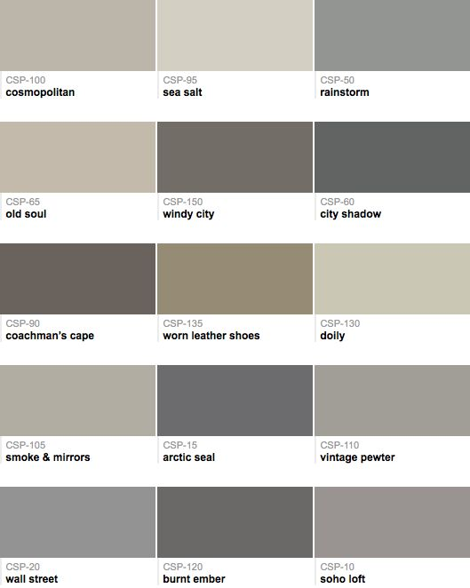 I stumbled across this awesome collection of warm grays from one of my new favorite paint blogs; Painters Place Blog that are all a nice balance of warm and cool.  There are a couple colors in this batch that may lean more cooler or warmer but these colors are a great starting point: