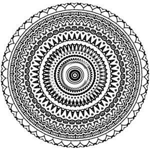 Aztec Mandala Coloring Pages