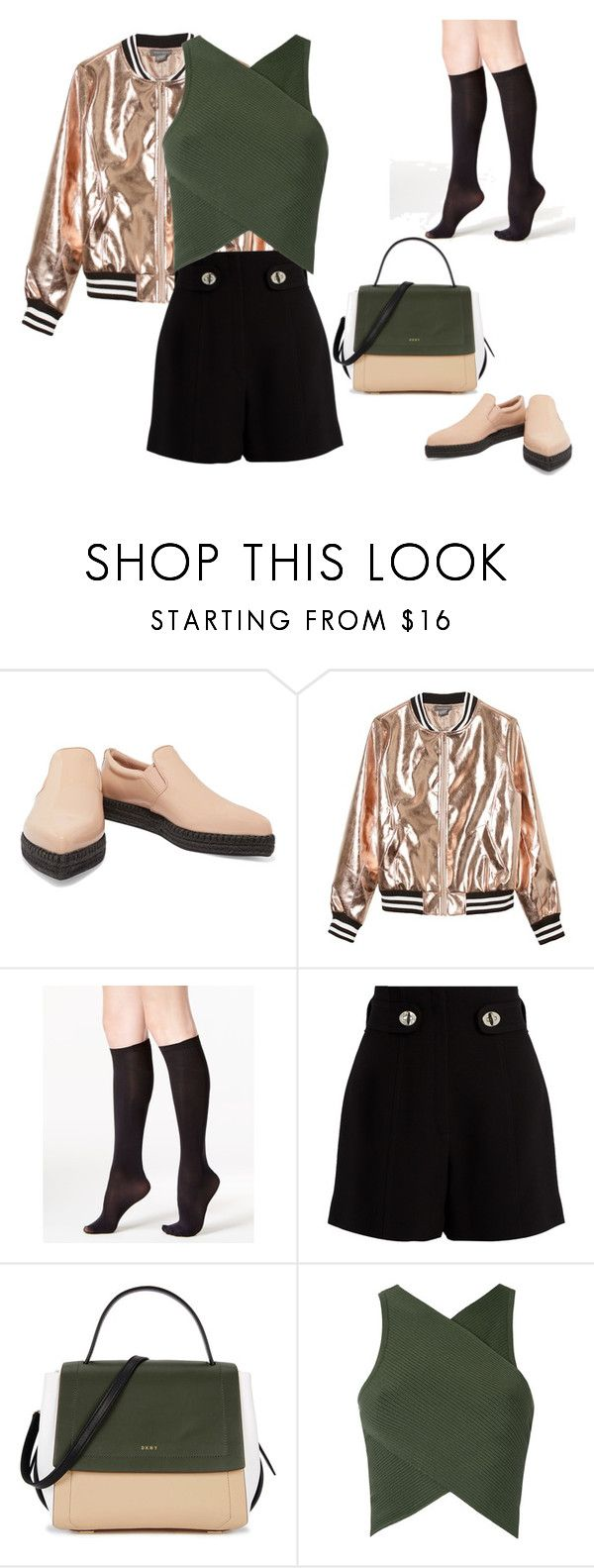 Гольфы в тренде by repriza on Polyvore featuring мода, EGREY, Sans Souci, Proenza Schouler and DKNY