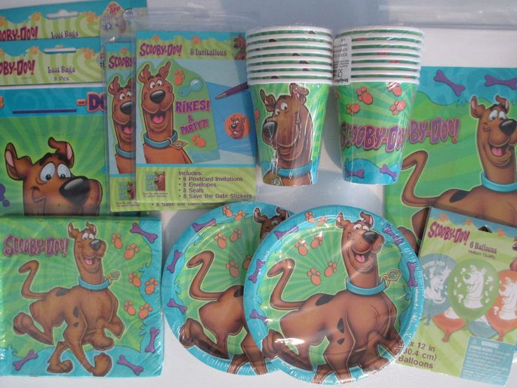 SCOOBY DOO Where Are You ? Birthday Party Supply DELUXE Kit w/Invites & Balloons  | eBay
