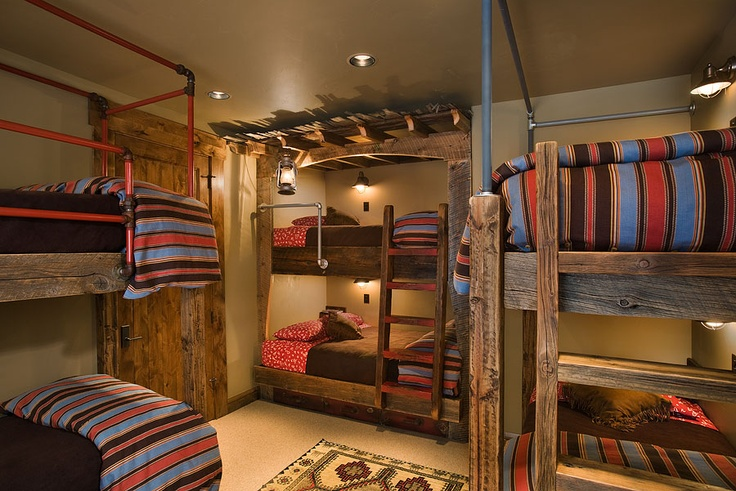 Decorating Ideas > A Fun Kids Bunk Room Has A Dash Of Modernity Within This  ~ 152515_Rustic Dorm Room Ideas