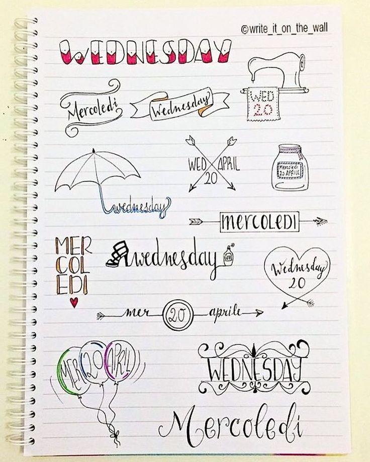 some inspiration for your next wednesday! _ un po' d'ispirazione per il vostro prossimo