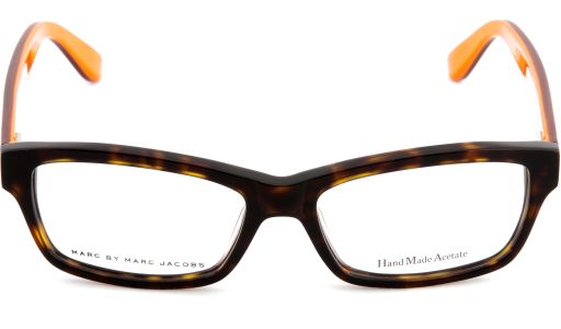 #EyewearHub: Marc by Marc Jacobs unisex #eyeglasses for just the right presence and attitude! Marc by Marc Jacobs is the fresh luxury line from design innovator Marc Jacobs that caters to price-conscious fashion fans! A latest look from this popular design house, these sharp, full-rim #rectangleframes feature integrated nose pads and come in two color combinations.
