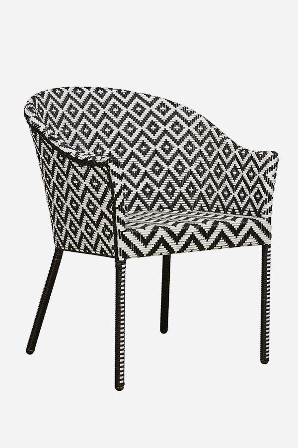 Ibiza Tub Chair - Black & White