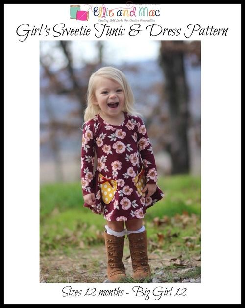 Ellie and Mac offers unique PDF sewing patterns and embroidery applique designs that allow you to make stunning boutique creations that will have you and your children standing out in a crowd.  We make bold looks for all people.