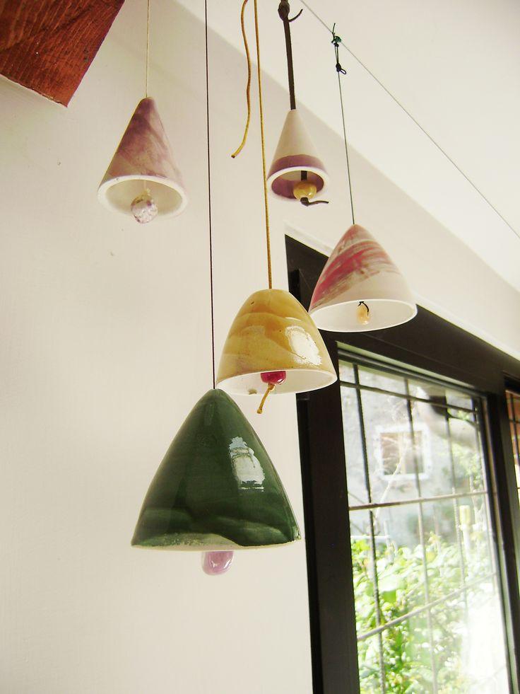 Campane colorate in ceramica Ceramic Bells design by Atelier Daniela Levera Campanas de ceramica, diseño Made in Italy, Venice