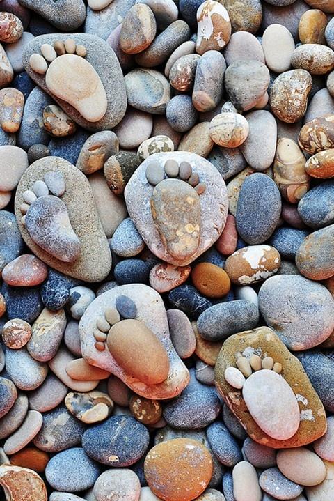 Stone feet