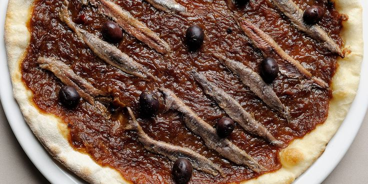 This pissaladière recipe from Pascal Aussignac comes topped with anchovies. Pissaladière is a cheese-free pizza, so perfect for those who are lactose intolerant