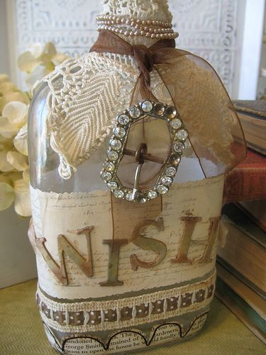 bottle...more decorated than I usually do, but this could be nice for something different to offer