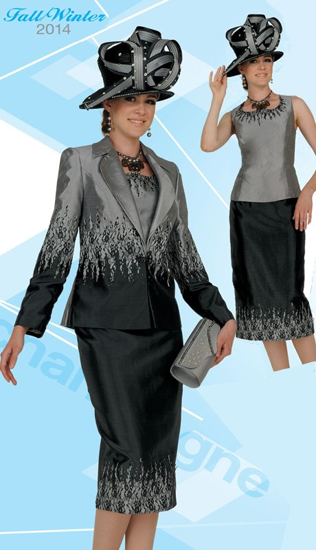 CS4412,Champagne Womens Church Suits Fall And Holiday 2014