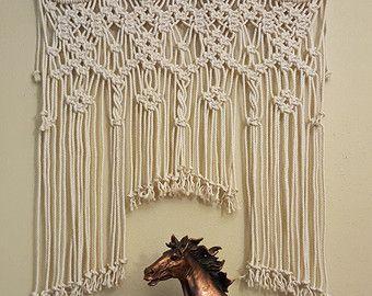 SALE Large Ornamental Iron Macrame wall hanging by Jonatis on Etsy