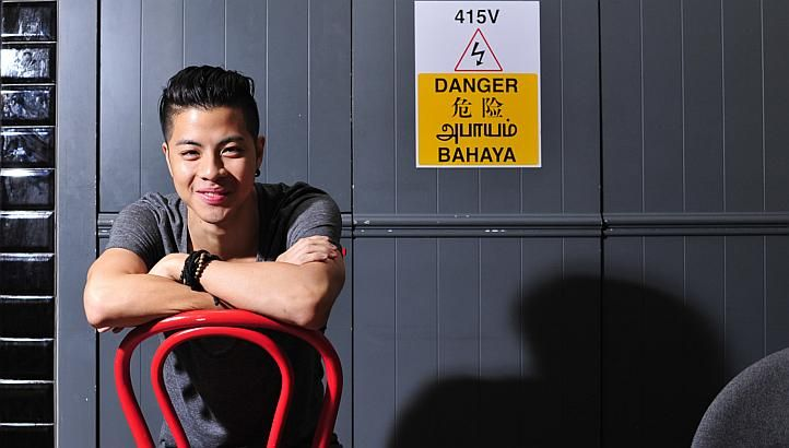Guitarist, vocalist and songwriter Benjamin Kheng on a roll in music and on stage. http://www.straitstimes.com/performing-arts-in-singapore Photo: Dios Vincoy Jr for The Straits Times