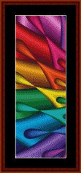 Click to view FREE Fractal counted cross stitch pattern! June 2014