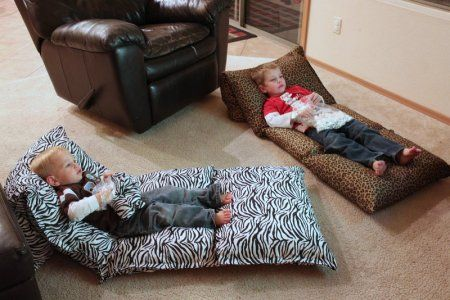How to make a pillow chaise for children - Grandma's Briefs - Grandma's Briefs - On life's second act